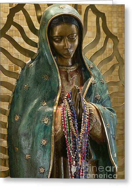 Rosary Greeting Cards - Our Lady of Guadalupe Greeting Card by John Greim