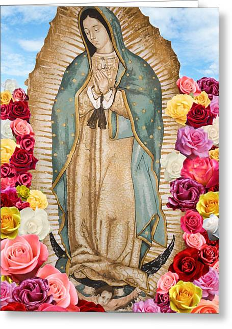 Our Lady Of Guadalupe Greeting Cards - Our Lady of Guadalupe Greeting Card by Nancy Ingersoll