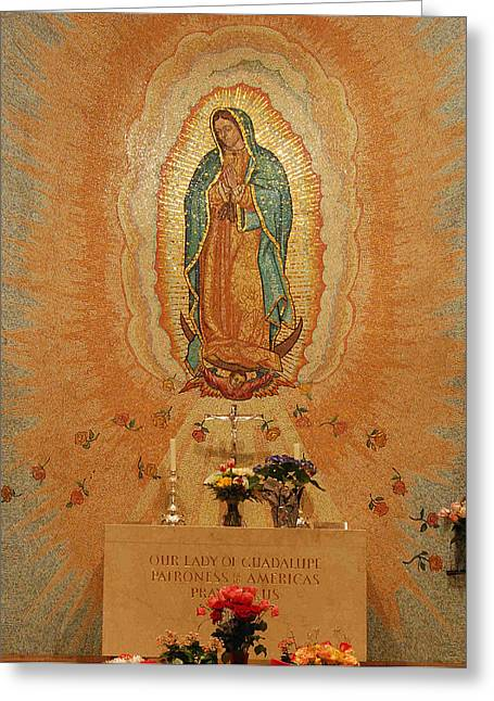 Guadalupe Greeting Cards - Our Lady of Guadalupe Greeting Card by Philip Ralley