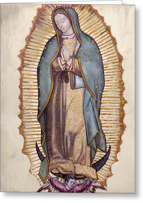 Virgin Paintings Greeting Cards - Our Lady of Guadalupe Greeting Card by Richard Barone
