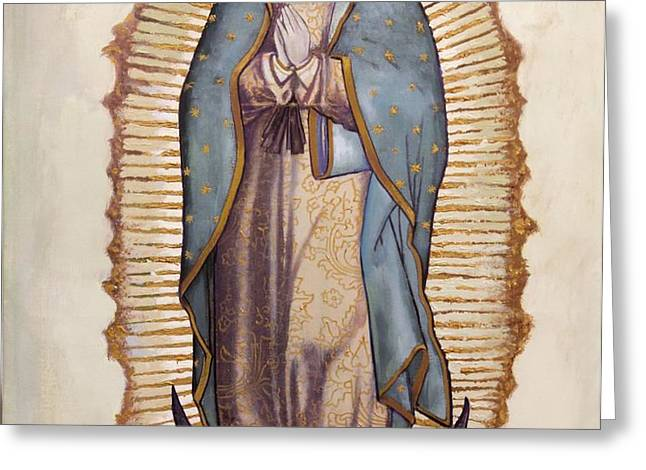 Our Lady of Guadalupe Greeting Card by Richard Barone