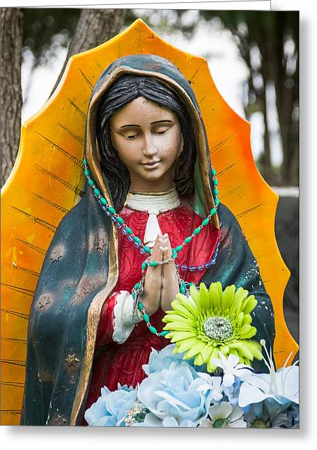 Virgin Of Guadalupe Art Greeting Cards - Our Lady Of Guadalupe V Greeting Card by Jay Blackburn
