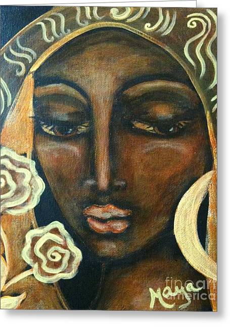 Our Lady Of Infinite Possibilities Greeting Card by Maya Telford