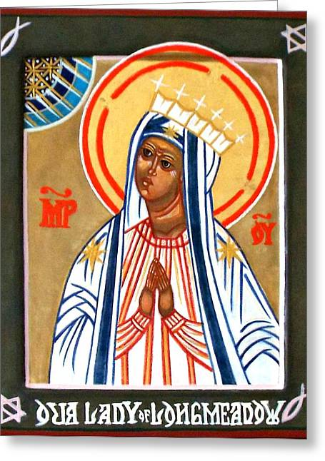 Our Lady Of Longmeadow Greeting Card by Marcelle Bartolo-Abela