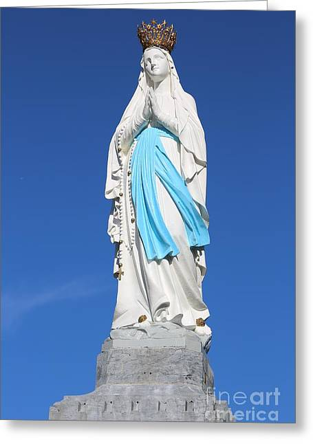 Our Lady Of Lourdes Greeting Card by Carol Groenen