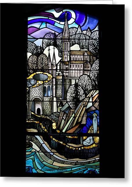 Queen Of Heaven Greeting Cards - Our Lady Of Lourdes France Greeting Card by Thomas Woolworth