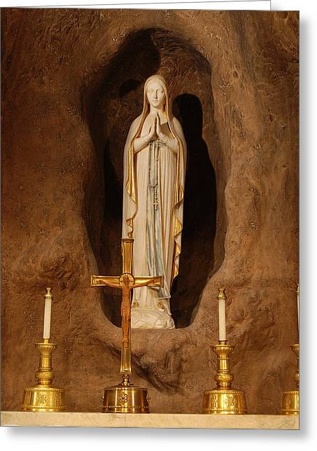 Mother Mary Digital Art Greeting Cards - Our Lady of Lourdes Greeting Card by Philip Ralley