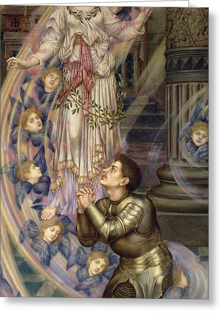 Olive Branch Greeting Cards - Our Lady of Peace Greeting Card by Evelyn De Morgan