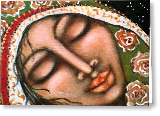 Maya Telford Greeting Cards - Our Lady of Peace Greeting Card by Maya Telford