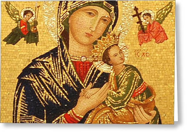 Our Lady of Perpetual Help  Greeting Card by Philip Ralley
