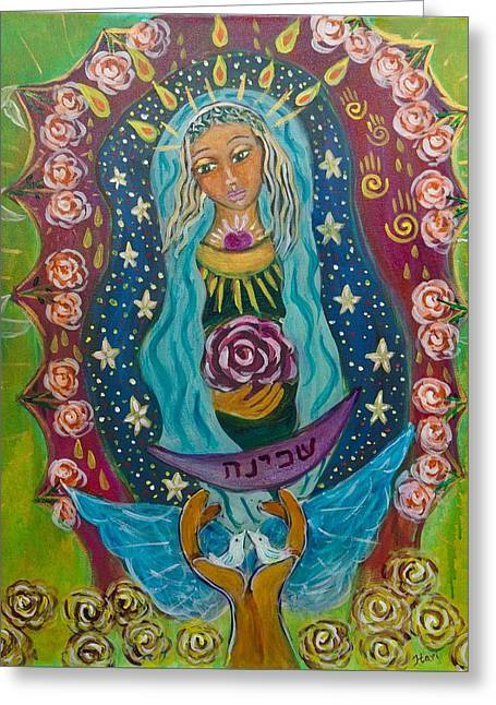 Our Lady Of Rebirth And Renewal Greeting Card by Havi Mandell