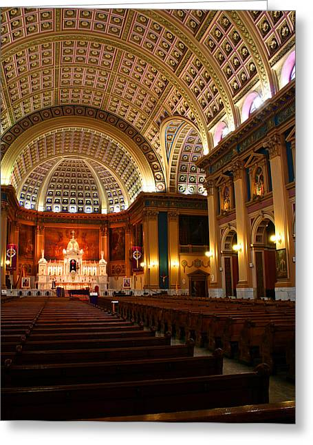 Lady Of Sorrow Greeting Cards - Our Lady of Sorrows Basilica Greeting Card by Kathryn McBride