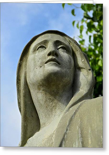 Lady Of Sorrow Greeting Cards - Our Lady of Sorrows Greeting Card by Dana Doyle