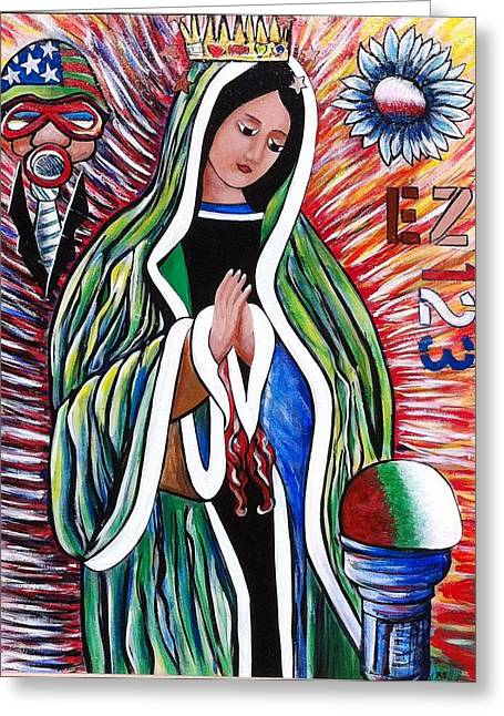 Reform Paintings Greeting Cards - Our Lady of the Perpetual Populous Mix Greeting Card by Randy Segura