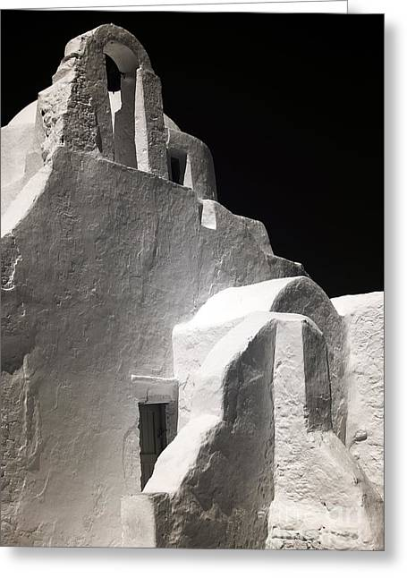 Panagia Greeting Cards - Our Lady of the Side Gate infrared Greeting Card by John Rizzuto