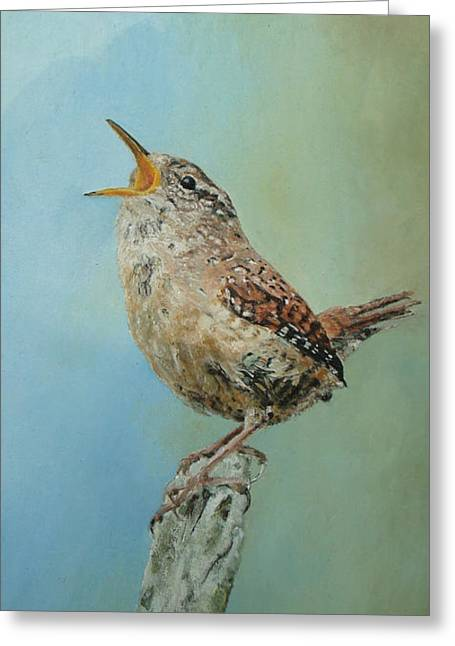 Natuur Greeting Cards - Our Little Wren Greeting Card by Erna Goudbeek