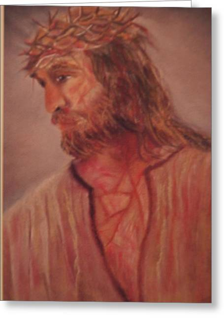 Jesus Pastels Greeting Cards - Our Lord Greeting Card by Lynda Ortiz