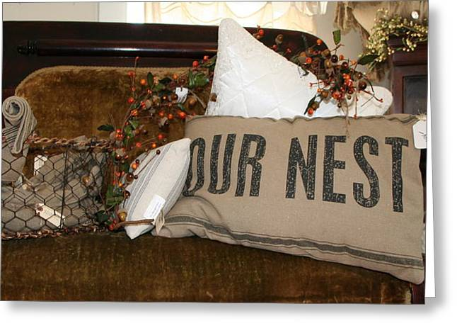 Our Nest Greeting Card by Rebecca Smith