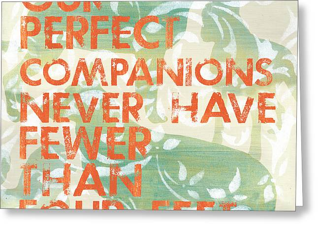Our Perfect Companion Greeting Card by Debbie DeWitt