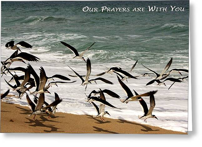 Ocean Art Photography Greeting Cards - Our Prayers are with You Greeting Card by Dawn Currie