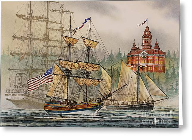 Lady Washington Greeting Cards - Our Seafaring Heritage Greeting Card by James Williamson