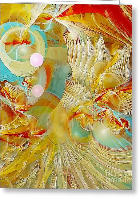 Recently Sold -  - Abstract Digital Pastels Greeting Cards - Our Souls Expand Greeting Card by Gayle Odsather