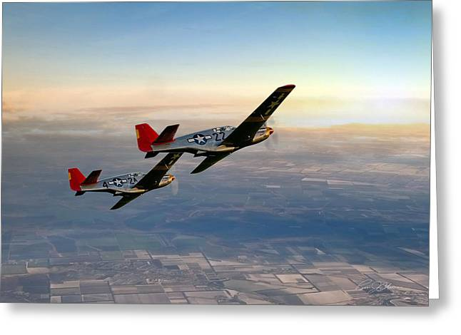 Tuskegee Airman Greeting Cards - Our Time In The Sun Greeting Card by Peter Chilelli