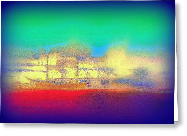 Mental Process Greeting Cards - Dreaming Of A Sailship Greeting Card by Hilde Widerberg