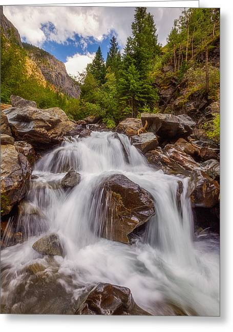 Waterfall Greeting Cards - Ouray Wilderness Greeting Card by Darren  White