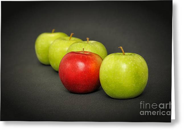 Discrimination Greeting Cards - Out apple Greeting Card by Skyfish Images
