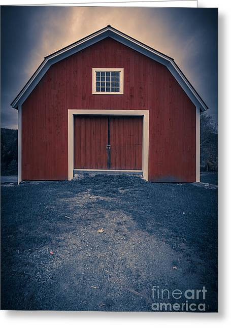 Red Barn Greeting Cards - Out by the barn Greeting Card by Edward Fielding