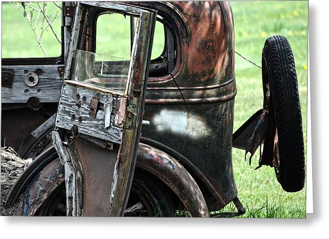 Car Doors Greeting Cards - Out Doors Greeting Card by Jerry Cordeiro
