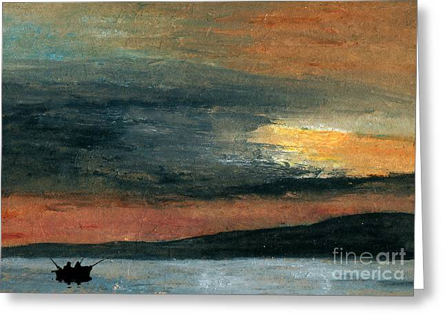 Relaxed Pastels Greeting Cards - Out Fishin Greeting Card by R Kyllo
