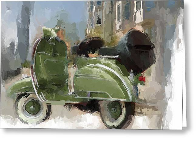 Exciting Mixed Media Greeting Cards - Out for a Ride Greeting Card by Russell Pierce