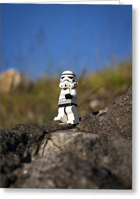 Lego Greeting Cards - Out for a Stroll Greeting Card by Samuel Whitton