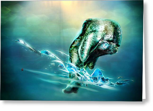 Alien Worlds Greeting Cards - Out For A Swim Greeting Card by Adam Vance