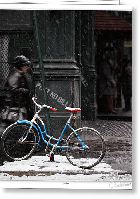Matre Greeting Cards - Out for aN ice Ride Greeting Card by Lar Matre