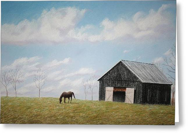 Photo-realism Pastels Greeting Cards - Out for Breakfast Greeting Card by Stacy C Bottoms