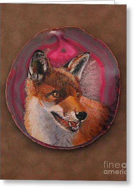 Fineartamerica Drawings Greeting Cards - What Does the Fox Say? Greeting Card by Bob Williams