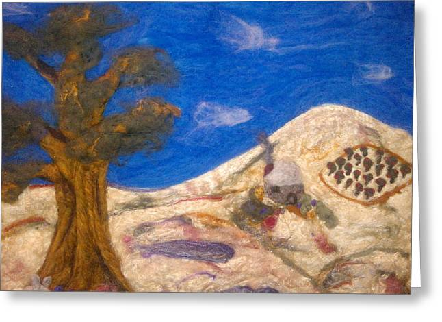 Orchard Tapestries - Textiles Greeting Cards - Out in the Country Greeting Card by Shakti Chionis