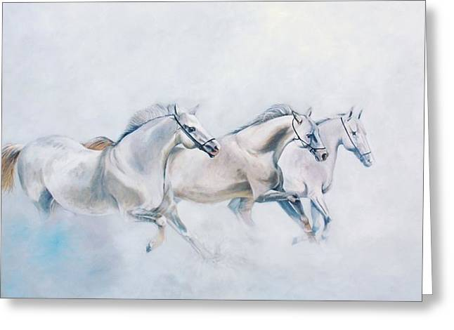 Galop Greeting Cards - Out of a dream Greeting Card by Jean Yves Crispo