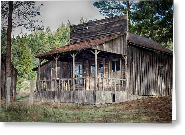 Historic Country Store Greeting Cards - Out of Business Greeting Card by Betty Depee