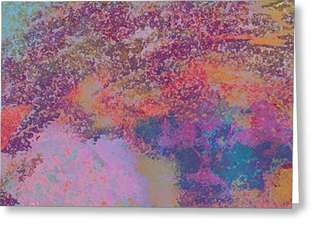 Focal Color Art Greeting Cards - Out of chaos comes order Greeting Card by Anika Kanter