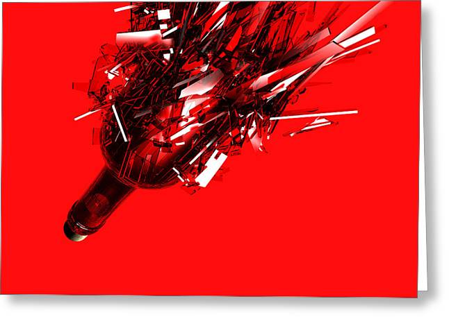 Still Life Greeting Cards - Out of control. Greeting Card by Jorge Di Pietro