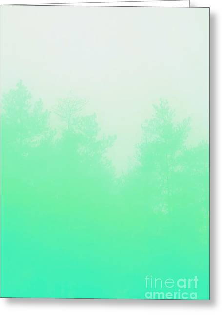 Mint Forest Greeting Card by Nava Seas