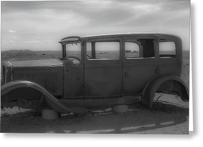 Old Roadway Greeting Cards - Out of Gas Greeting Card by Kathleen Scanlan