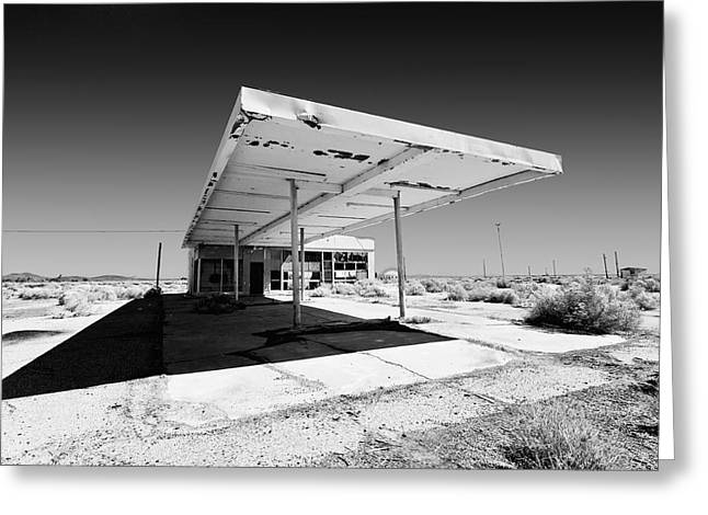 Gas Station Greeting Cards - Out of Gas Greeting Card by Peter Tellone