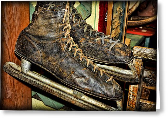 Best Sellers -  - Antique Skates Greeting Cards - Out of Ice Greeting Card by Fran Riley