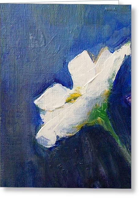 Jane See Art Greeting Cards - Out Of The Blue Greeting Card by Jane  See