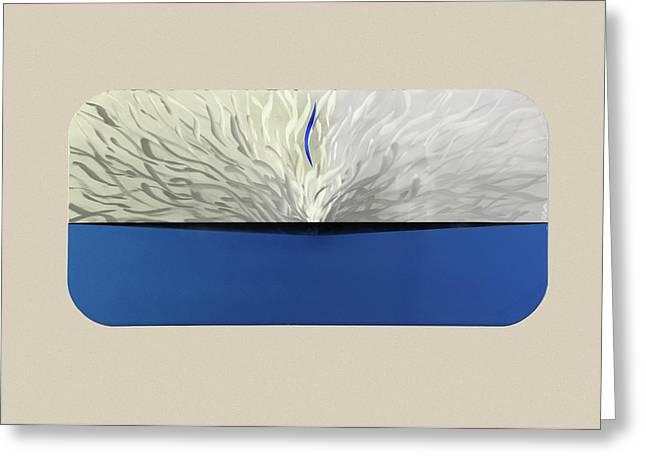 Blue Abstracts Sculptures Greeting Cards - Out of the Blue Greeting Card by Rick Roth
